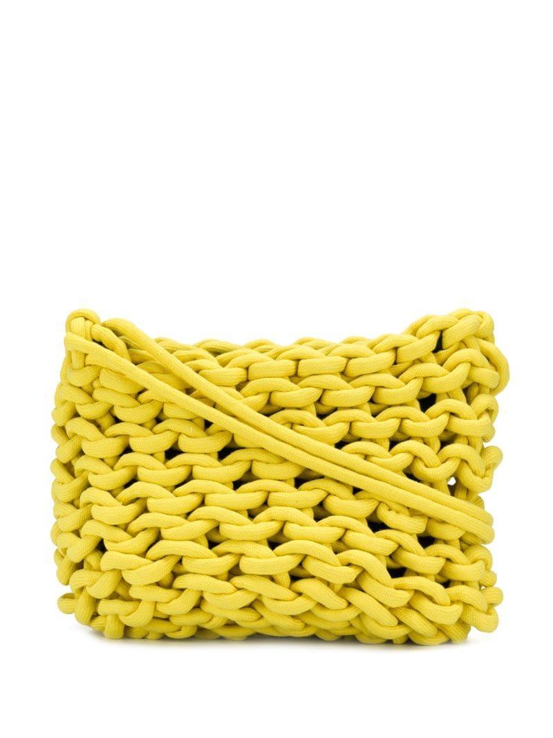 3ae730a9dd7 Alienina - Yellow Chunky Knit Shoulder Bag - Lyst. View fullscreen