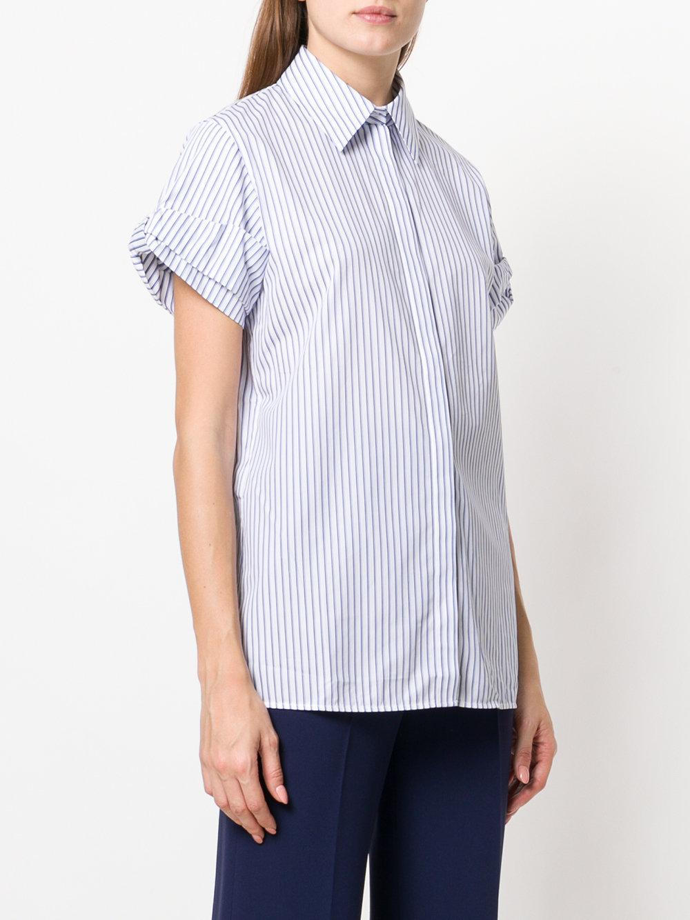 Buy Cheap 2018 Victoria Victoria Beckham layered shortsleeved shirt Shopping Online With Mastercard Cheap Clearance 5erYrn