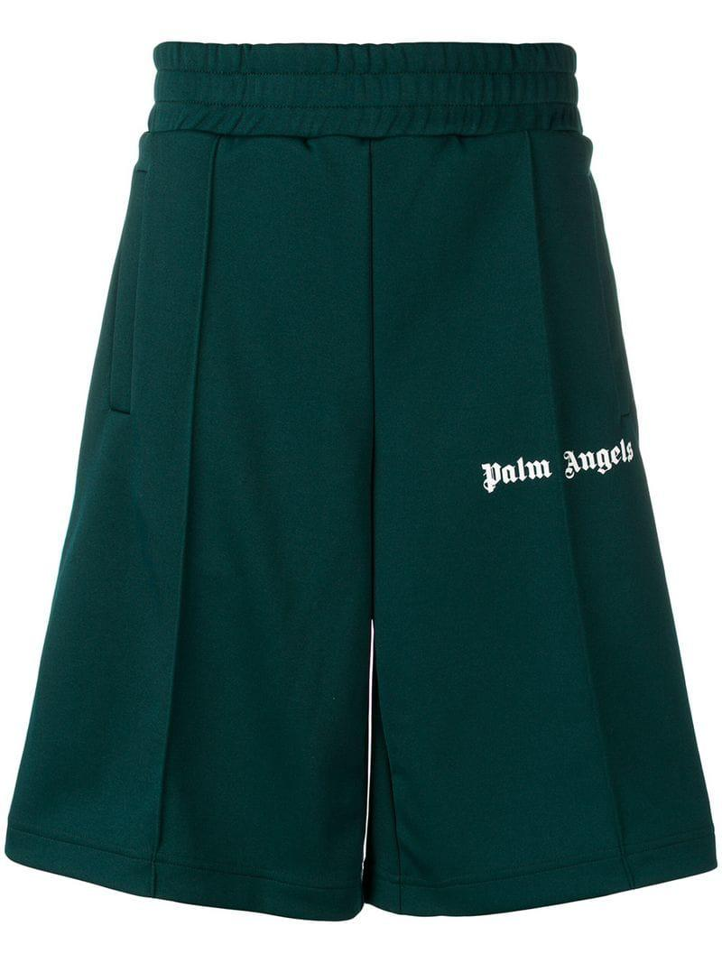 4cfb789a170 Lyst - Palm Angels Classic Track Shorts in Green for Men