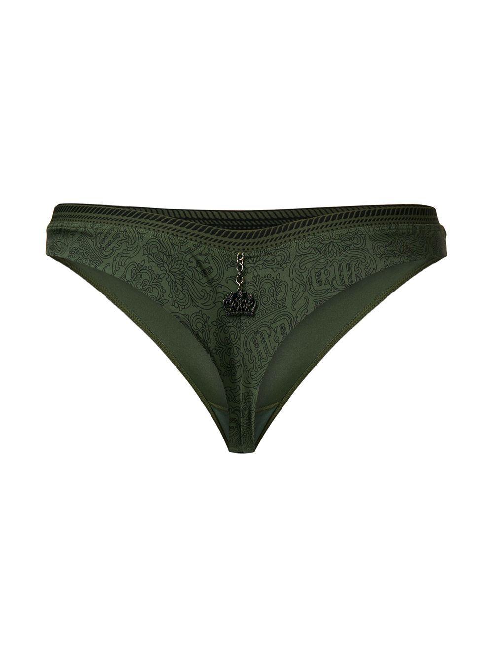 831fd9d142c Lyst - Marlies Dekkers Crown Jewel Butterfly Thong in Green