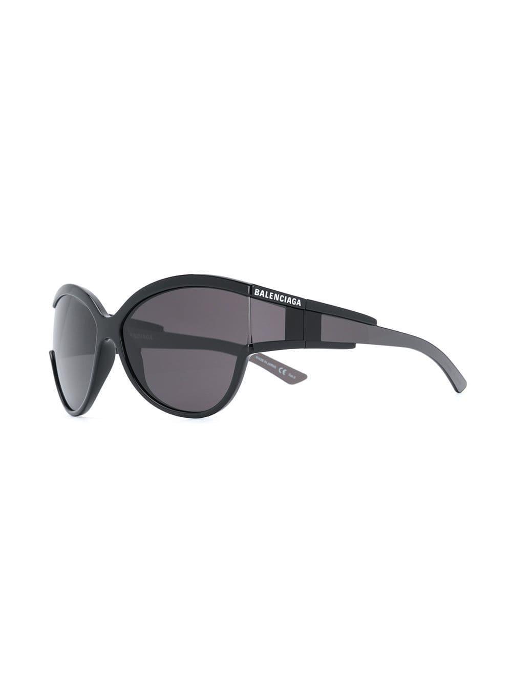 f4334a551d685 Lyst - Balenciaga Unlimited Round Sunglasses in Black - Save 25%