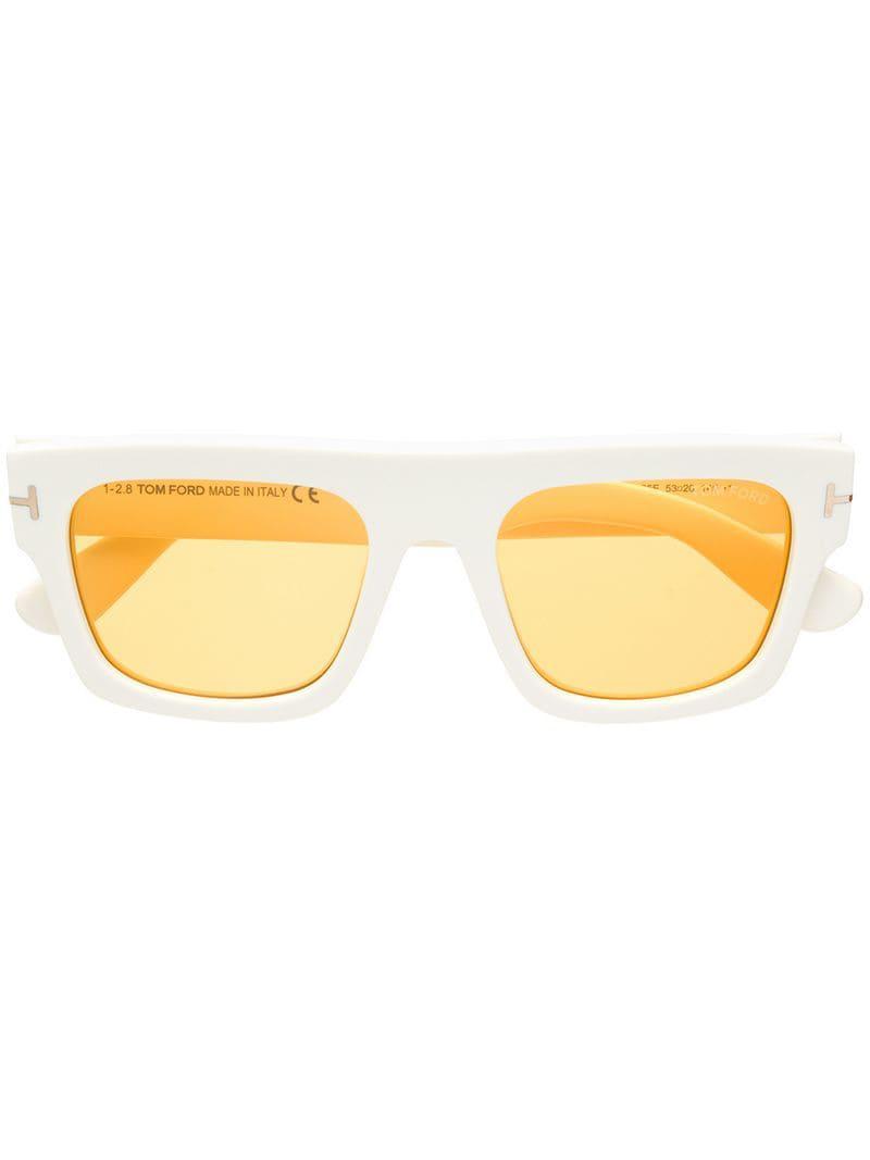 5377c8edd641 Tom Ford Fausto Sunglasses in White for Men - Lyst