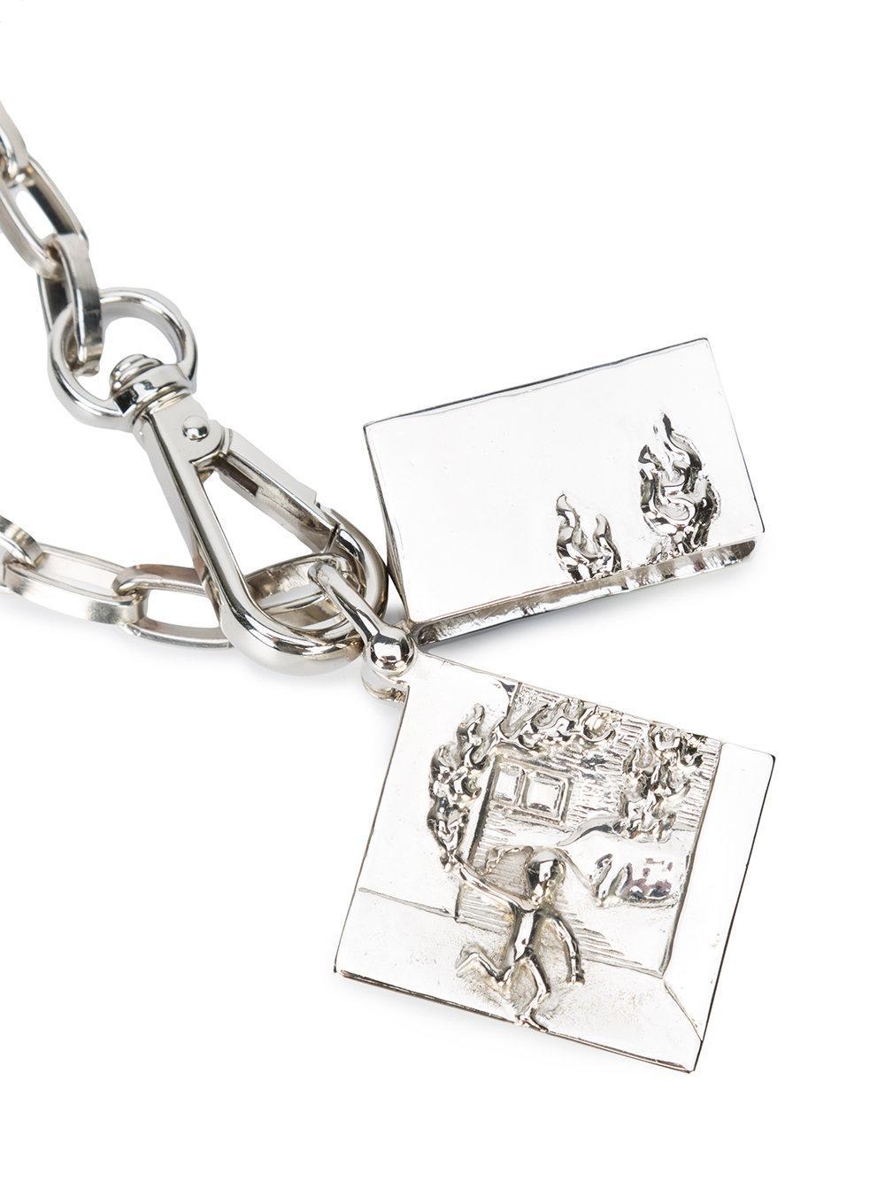 Enfants Riches Deprimes lighter with chain - Metallic wCikE4Ft