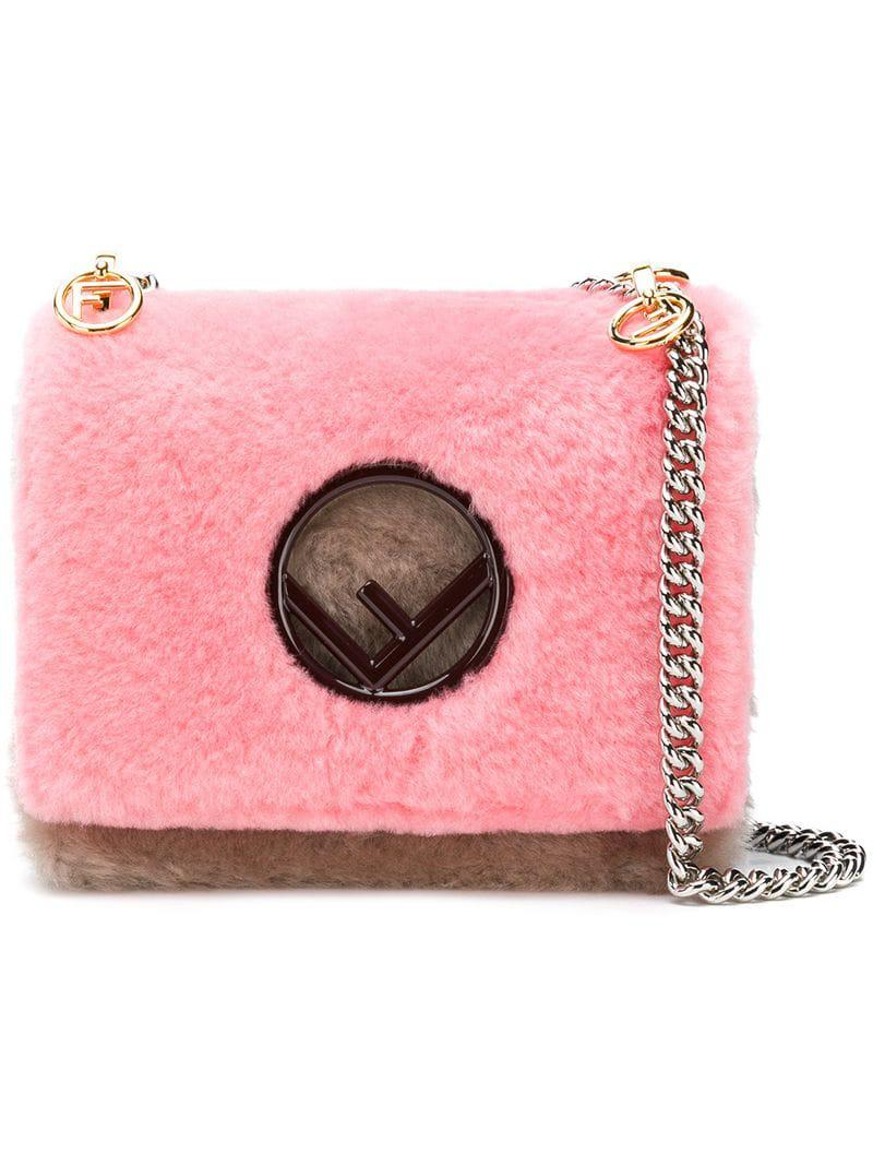 e723d8bbb491 Fendi Kan I Shoulder Bag in Pink - Lyst