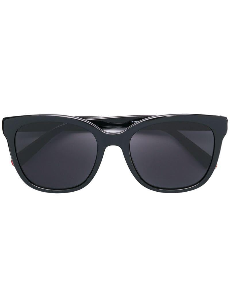 05be71b2f3f Tommy Hilfiger Square Frame Sunglasses in Black - Lyst