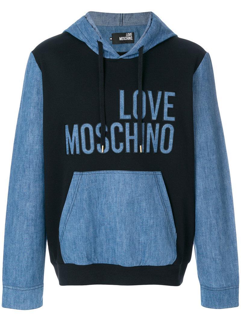 Moschino Sweat bicolore à logo T29RqiPSz7