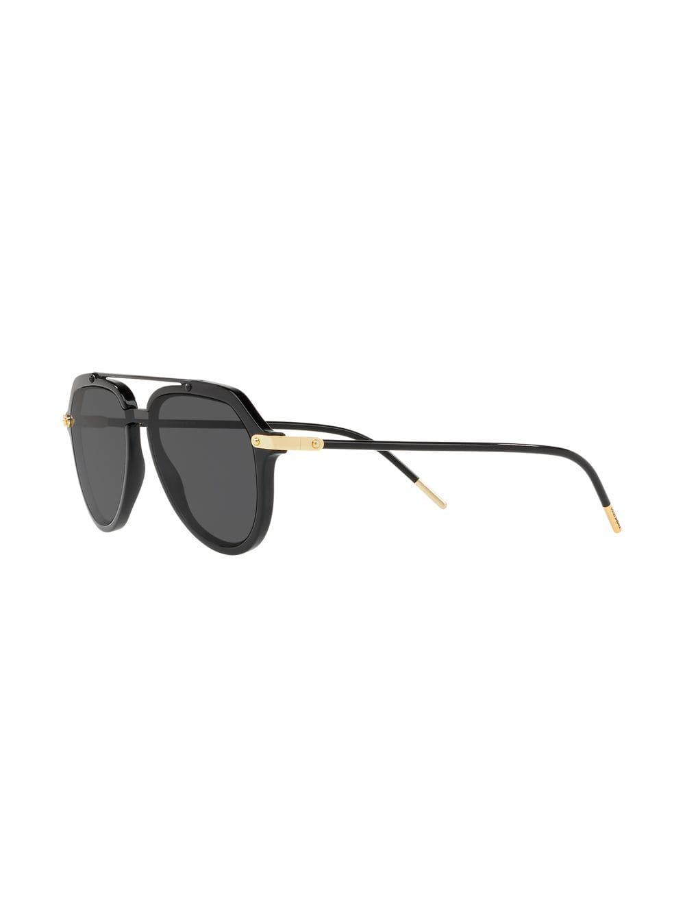 4eeb925e142b8 Dolce   Gabbana Aviator Sunglasses in Black for Men - Lyst