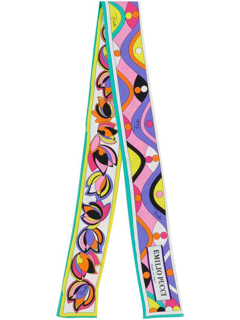 Mince Cravate-foulard - Multicolor Emilio Pucci 3pjMNtDEk