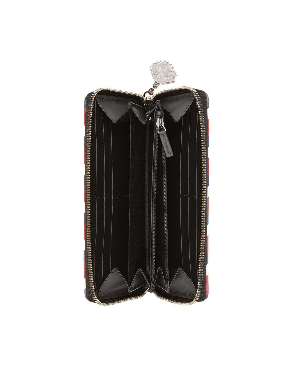 9befc677b31e Gucci - Black Night Courrier GG Supreme Zip Around Wallet for Men - Lyst.  View fullscreen