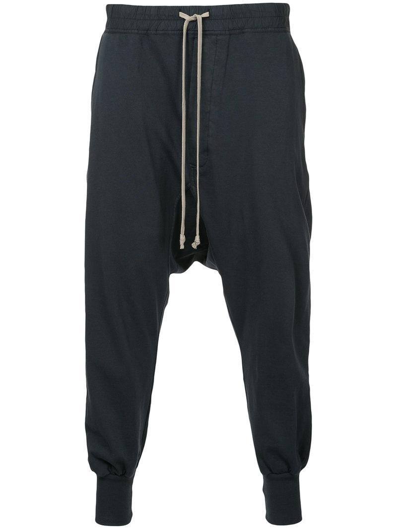 drop crotch track pants - Blue Rick Owens adI6VJuU