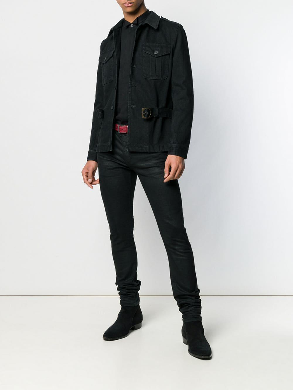 8adae0b77881a0 Lyst - Saint Laurent Pleated Front Shirt in Black for Men