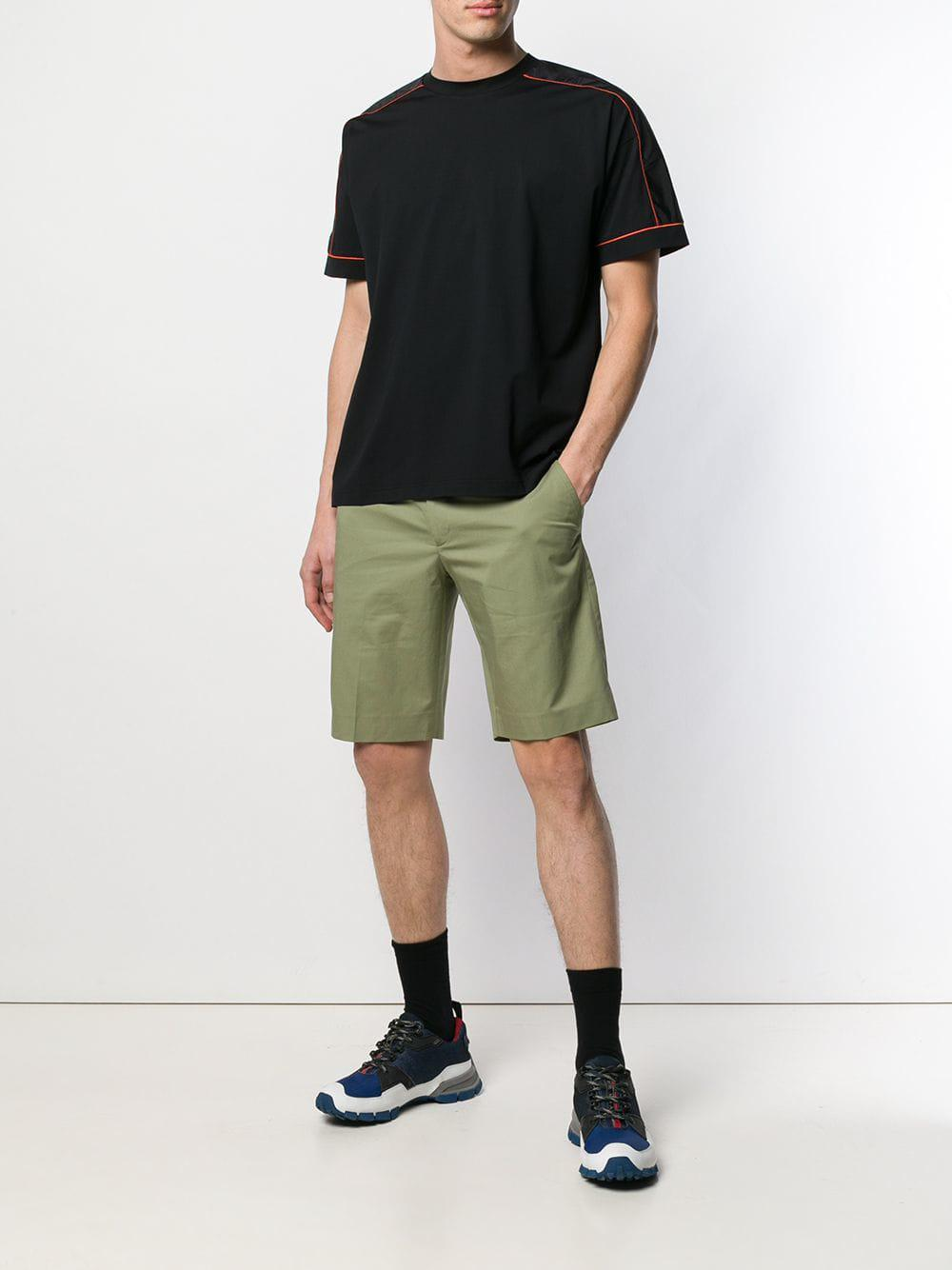 8a93ab7ee2e4e Lyst - Prada Contrast Piping Detailed T-shirt in Black for Men