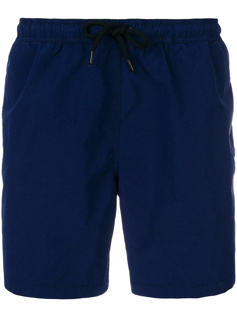 Free Shipping Clearance Store Comfortable plain swim shorts - Blue Aspesi oOMOnLIGSx