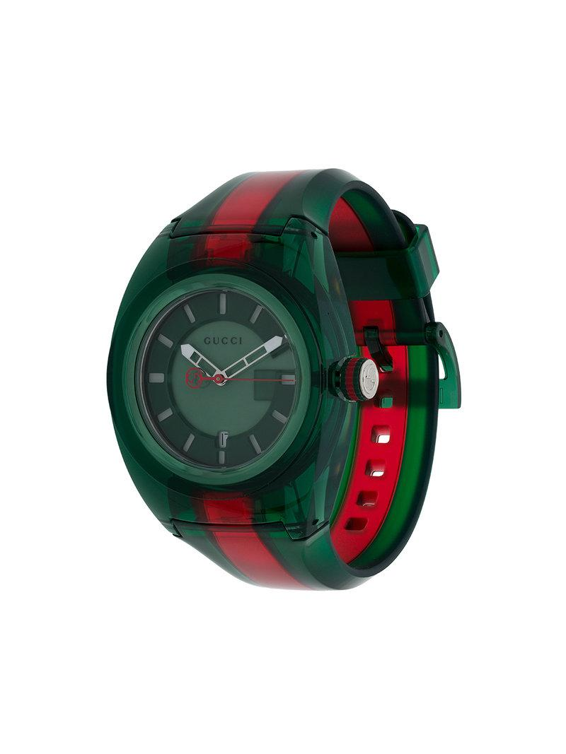 f6d08fa4163 Gucci Sync 46mm Watch in Green for Men - Save 36% - Lyst