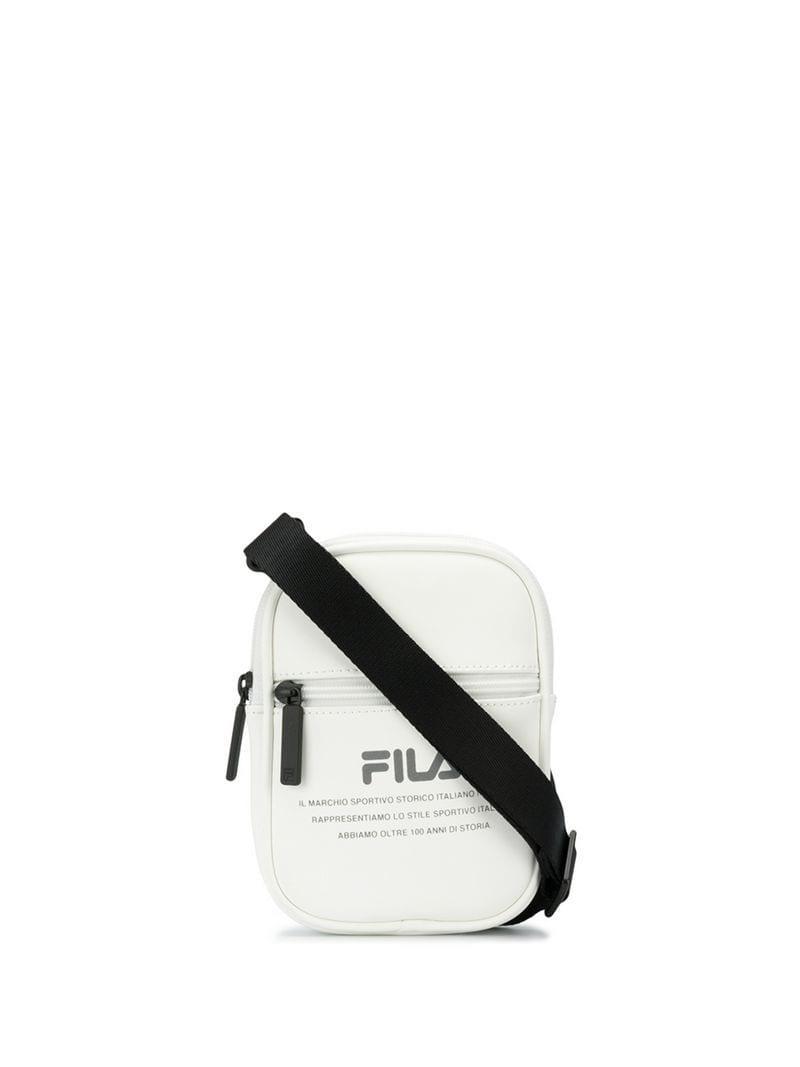 5d2ed86eae Lyst - Fila Logo Print Shoulder Bag in White for Men
