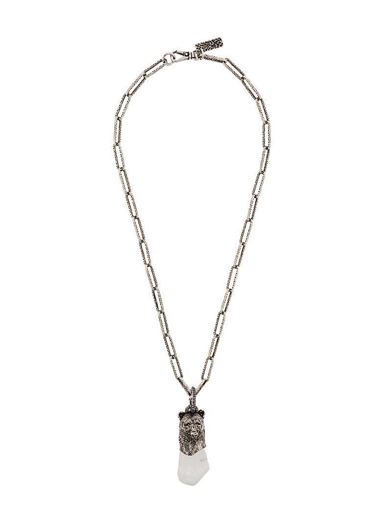 Prada Prada Talisman Bear Necklace Jpm9dBKAK