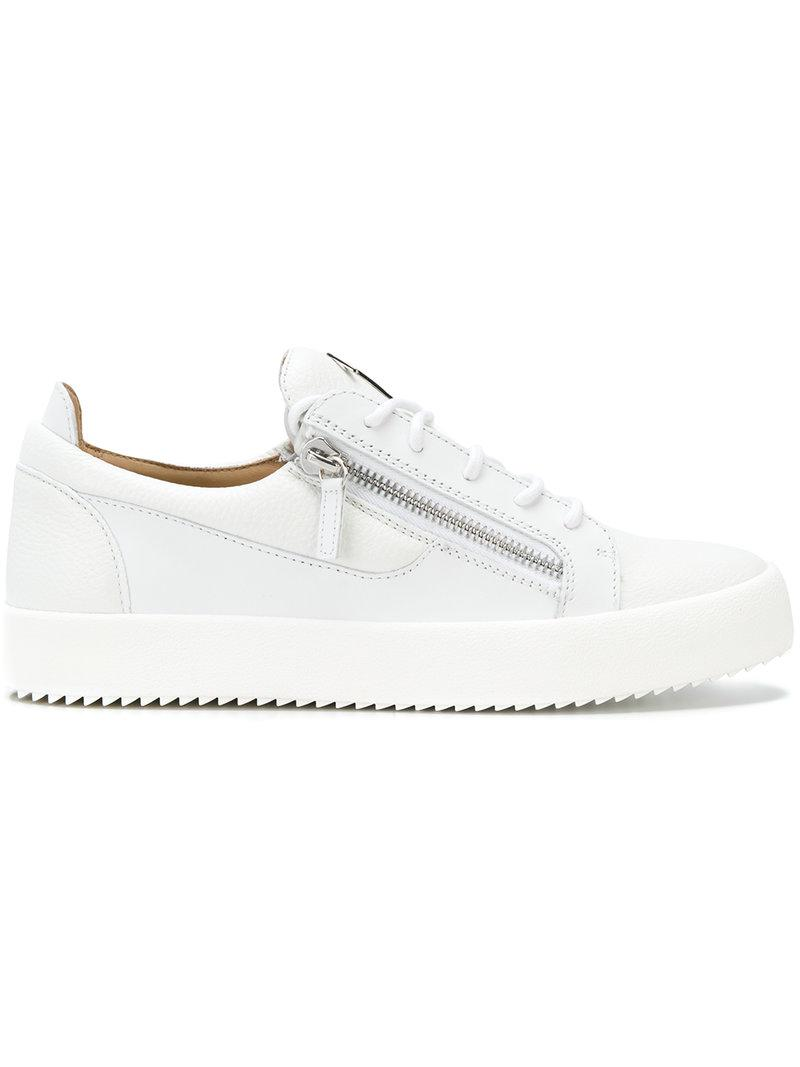 b2d4e85a2251 Giuseppe Zanotti Frankie Low-top Sneakers in White for Men - Lyst
