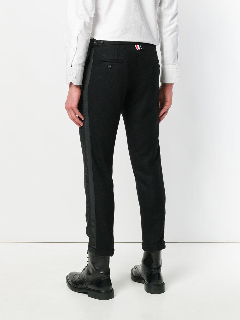 Grosgrain-Tipped Bicolor Skinny Trouser In Shetland Wool - Grey Thom Browne zHceKp68