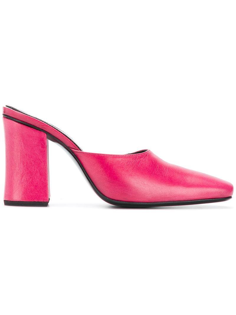 DORATEYMUR Chunky heel mules wMZi3