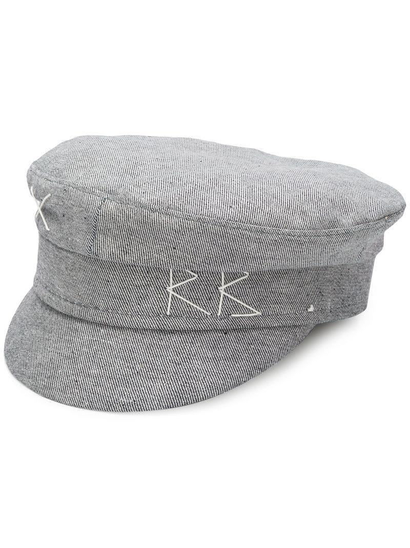 8e7d2005308 Ruslan Baginskiy Embroidered Logo Peaked Hat in Gray - Lyst