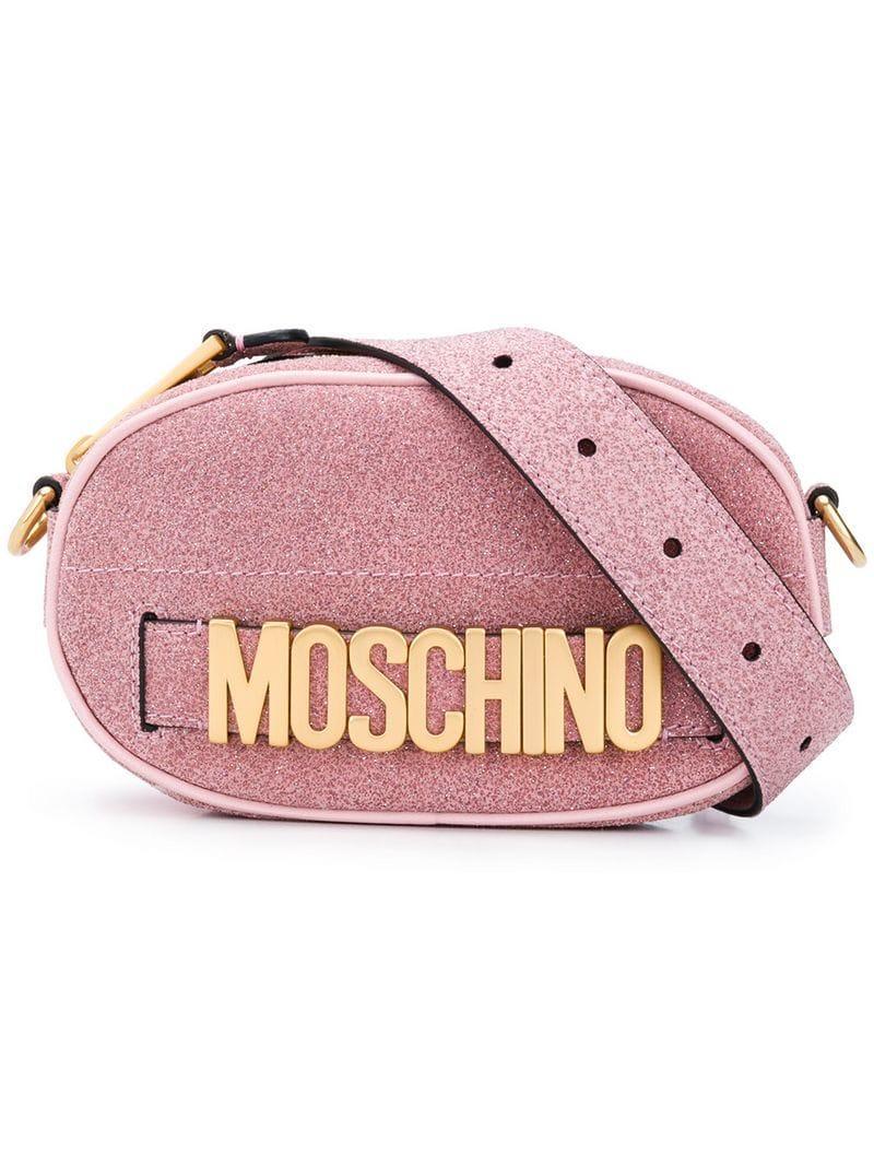 683256f503 Lyst - Moschino Logo Belt Bag in Pink