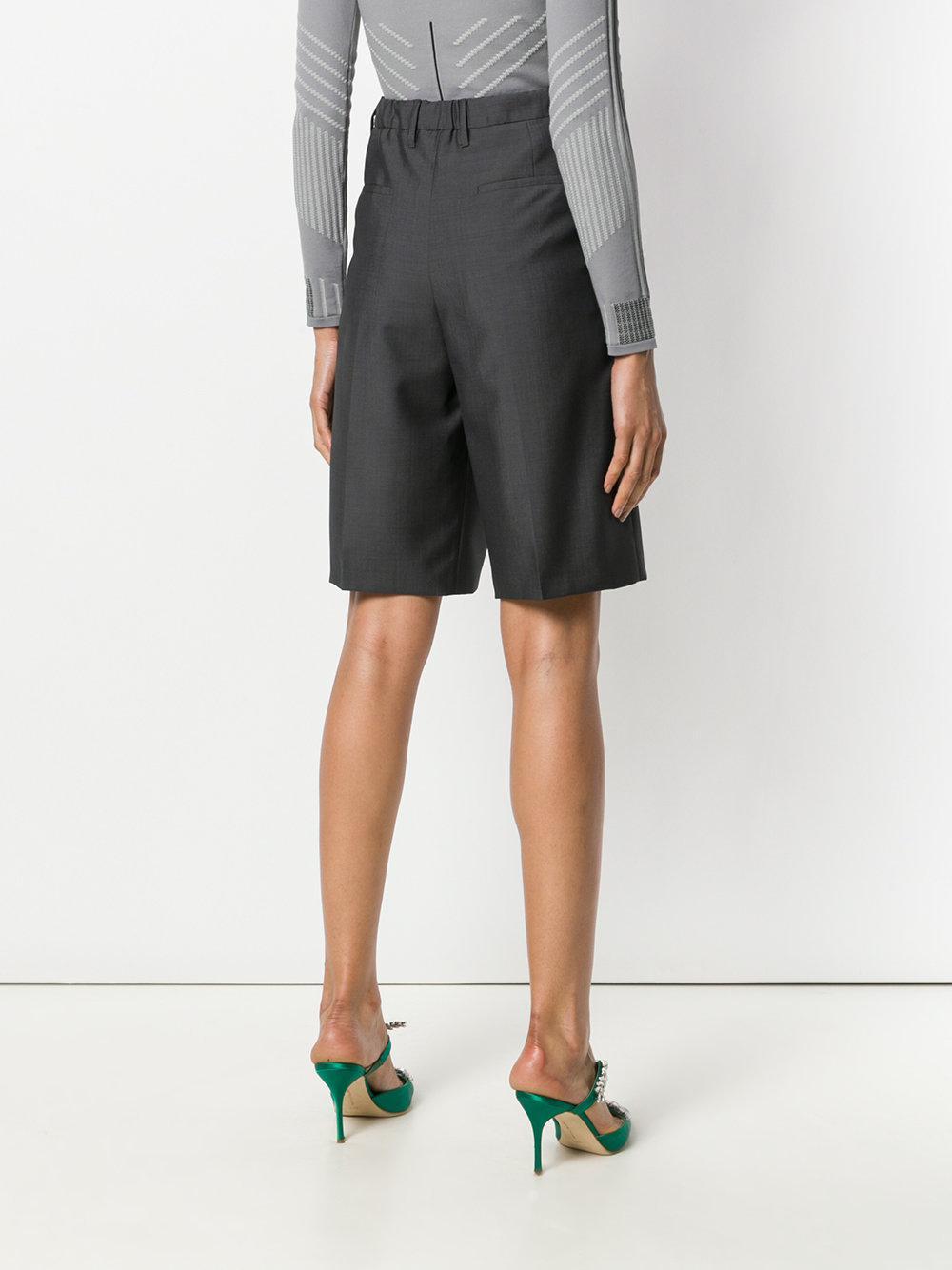 Prada pleated detailing tailored shorts Discount Amazing Price 9xfwM1P
