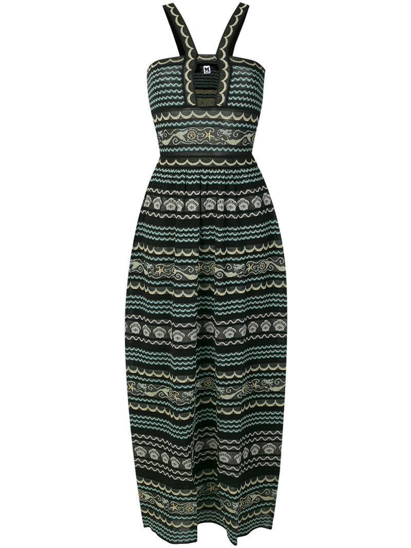 mixed-pattern long dress - Black M Missoni pxEzboqg