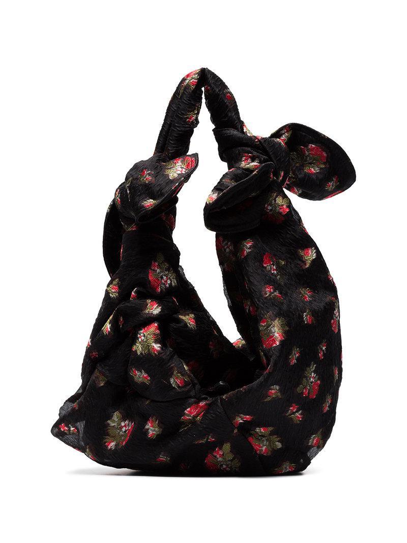 Bow-tied floral-jacquard cross-body bag Simone Rocha nJ1IXQEs