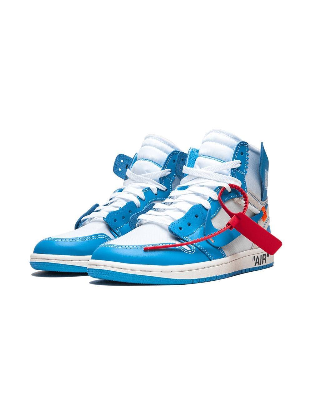 194869887b5f Nike X Off-white Air Jordan 1 Sneakers in Blue - Save 40% - Lyst