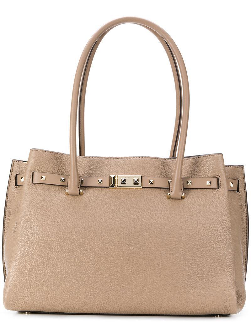 3061937c8cec MICHAEL Michael Kors Addison Tote Bag in Natural - Lyst