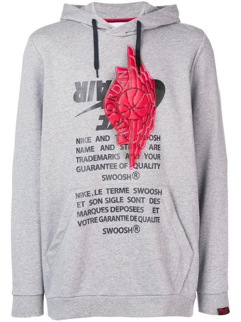 edcf216cd33580 Nike Jordan Jumpman Hoodie in Gray for Men - Lyst