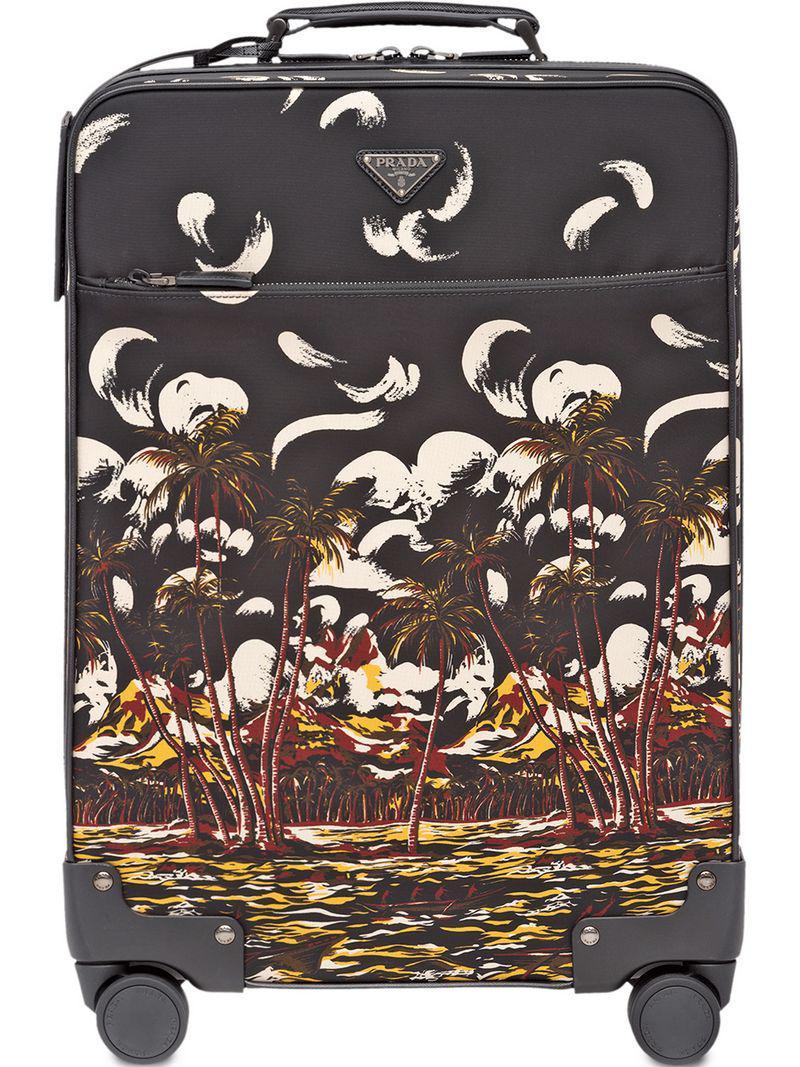 6828613ea49a Prada - Gray Printed Landscape Trolley for Men - Lyst. View fullscreen