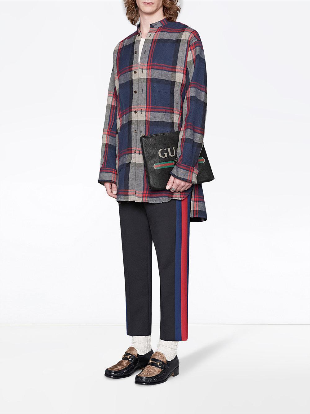 de501127ddb Lyst - Gucci Print Leather Medium Portfolio in Black for Men