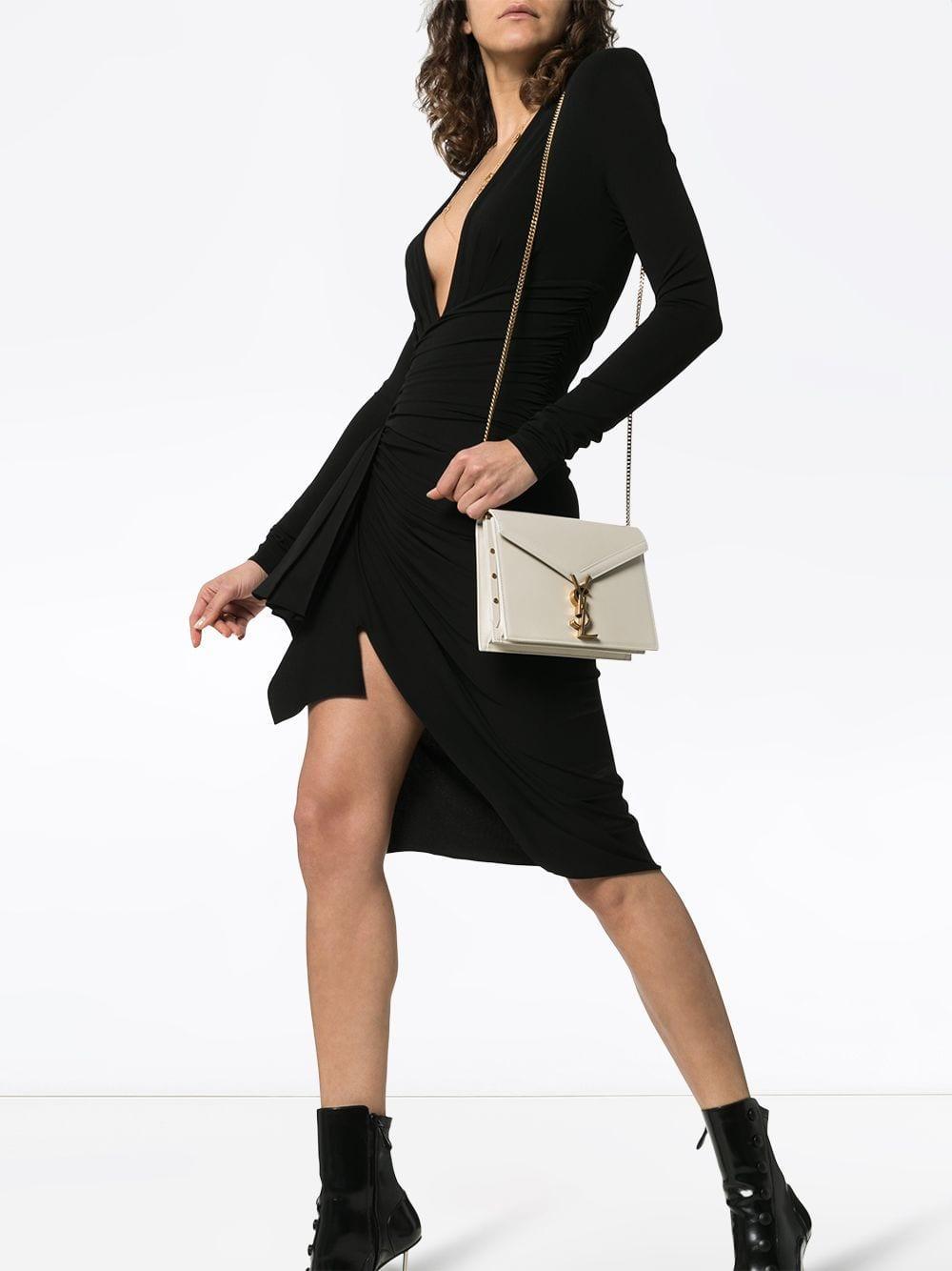 Saint Laurent - Natural Beige Cassandra Chain Leather Shoulder Bag - Lyst.  View fullscreen 7bb07c1ece50b
