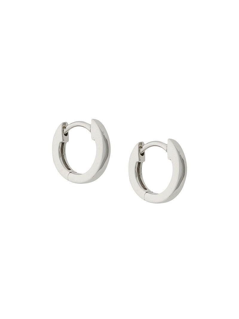 Astley Clarke plain mini Halo hoop earrings - Metallic a9tb4l