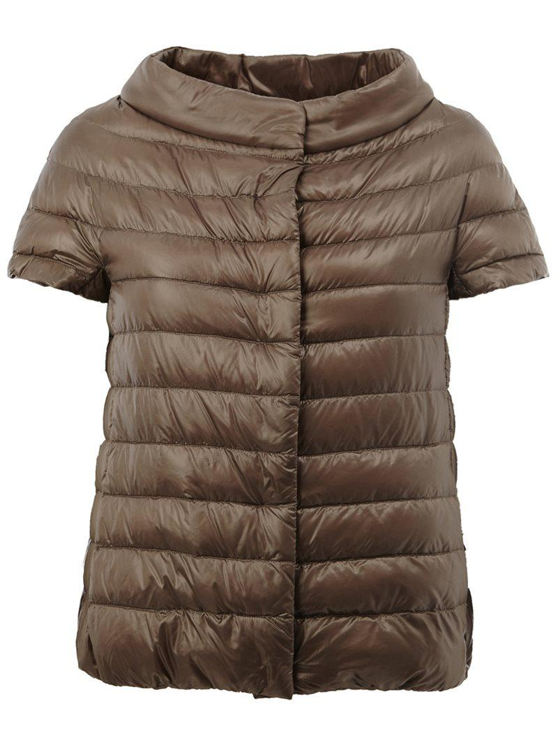 Lyst Herno Wide Collar Puffer Jacket