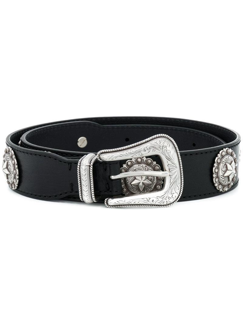 star plaque Western buckle belt - Black Kate Cate pf5TbNH