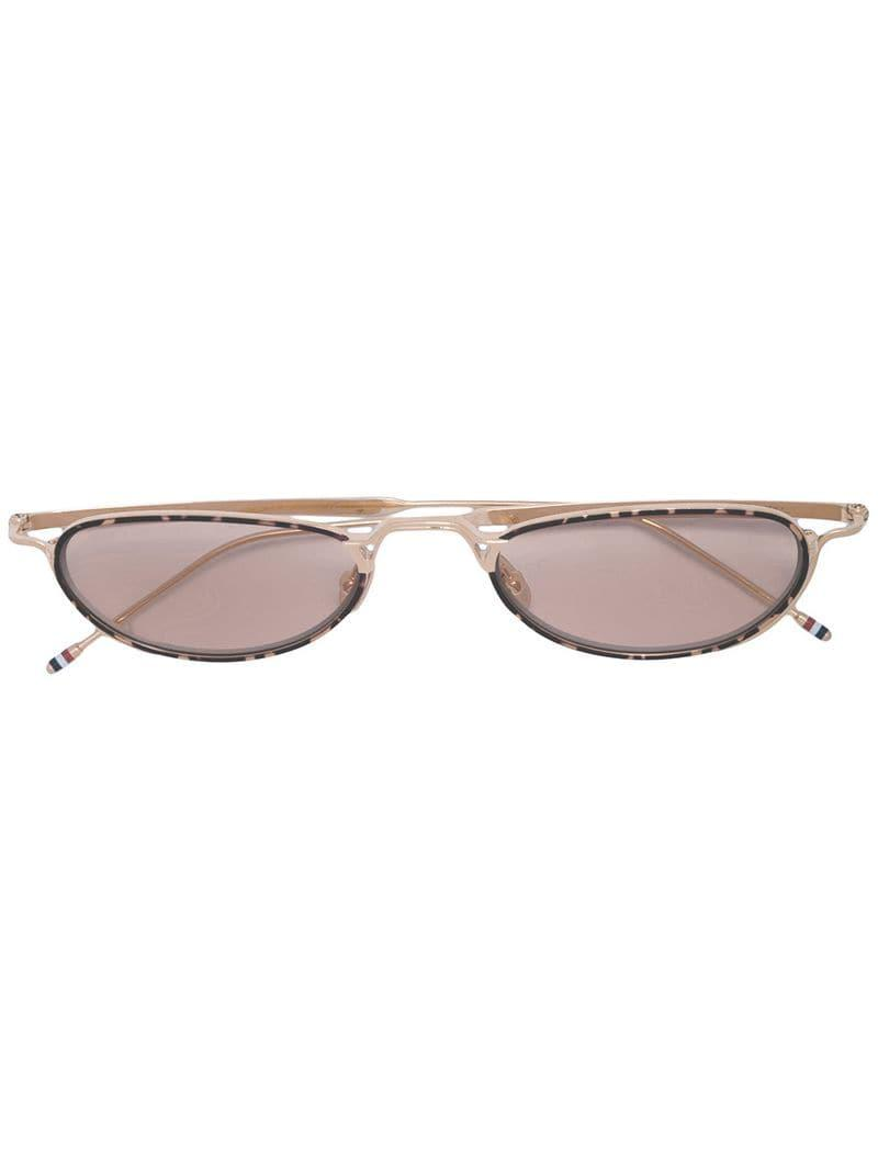 763b561868b Lyst - Thom Browne Oval Frame Glasses in Metallic for Men