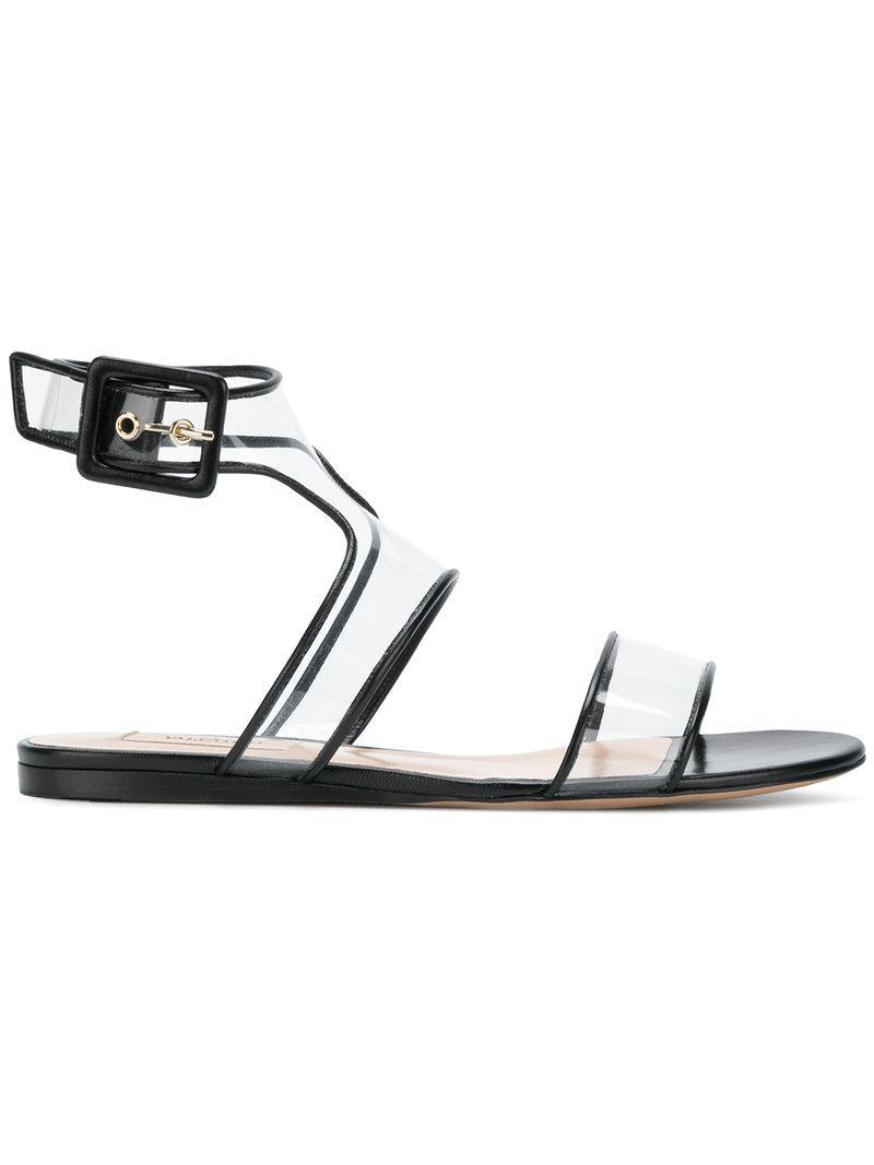 793f7c016f77 Lyst - Valentino Dollybow Flat Sandals in Black