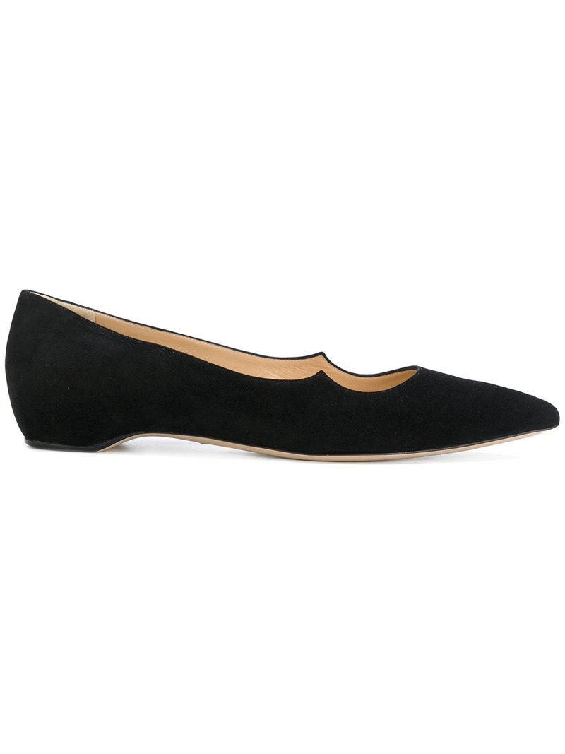 PAUL ANDREW Pointed ballerina shoes