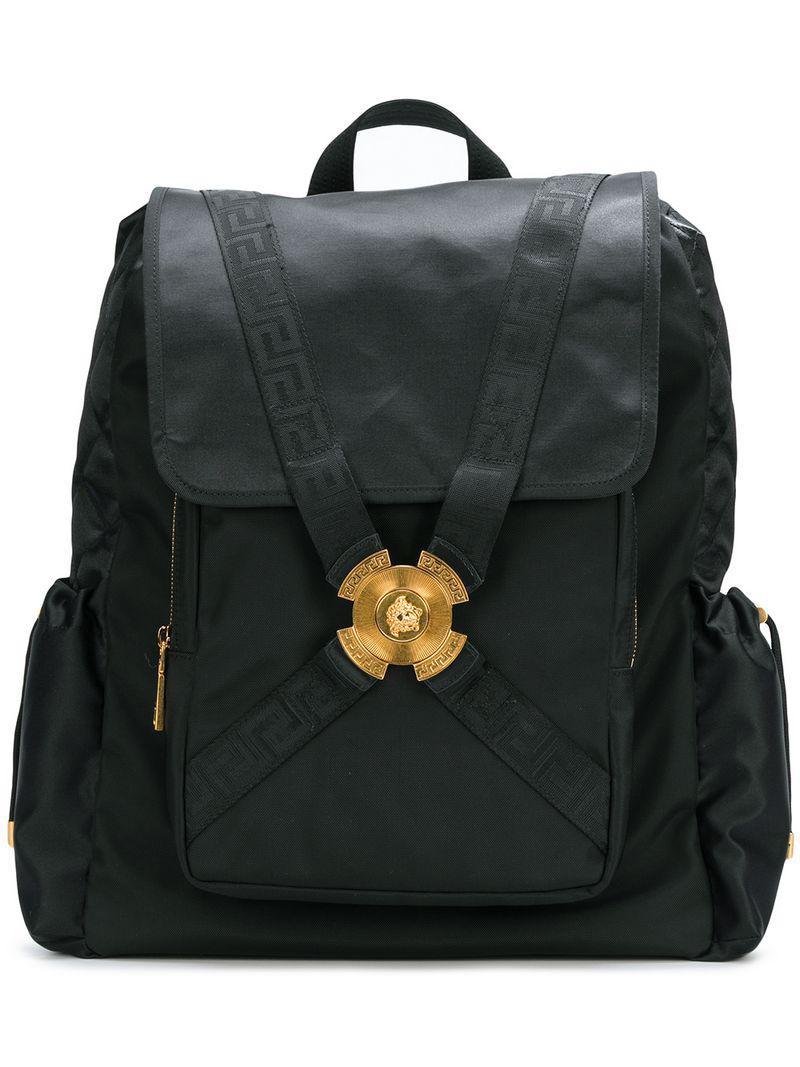 Versace Medusa Strap Backpack in Black for Men - Lyst d5e882d659