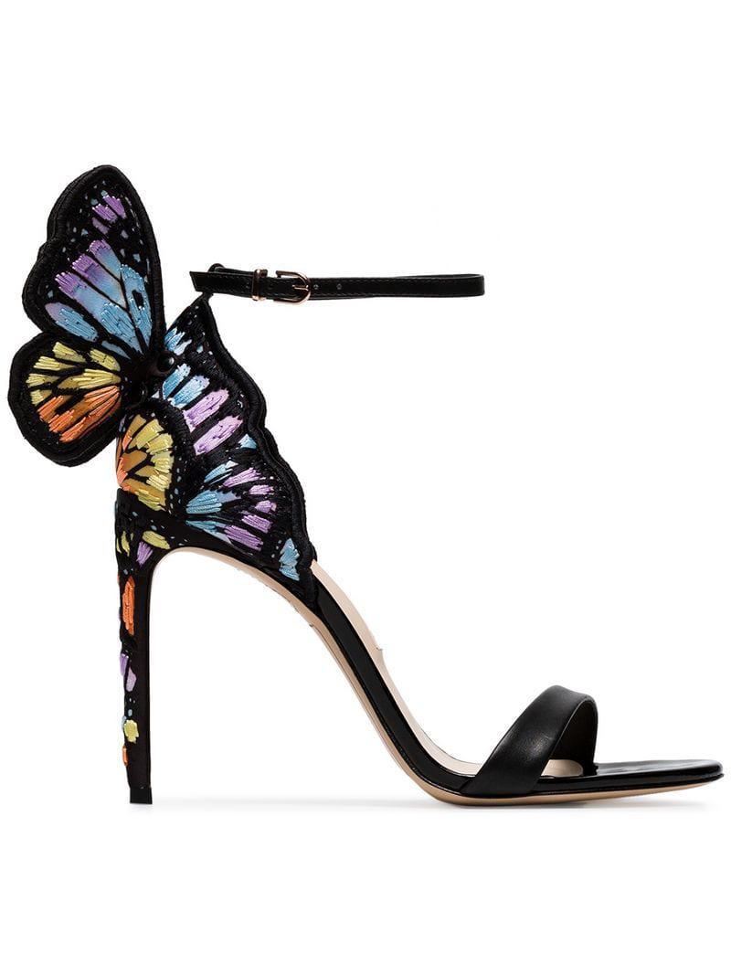 bf5e0240562 Lyst - Sophia Webster Multicoloured Chiara 100 Sandals in Black