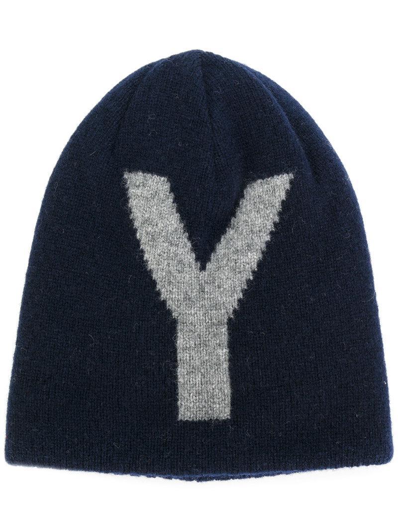 logo print beanie - Grey Yohji Yamamoto JSFJoNX