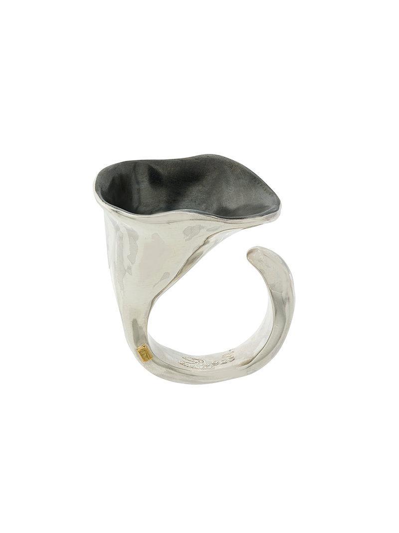 Rosa Maria Saxo Bell large ring - Metallic i7WWZv0K