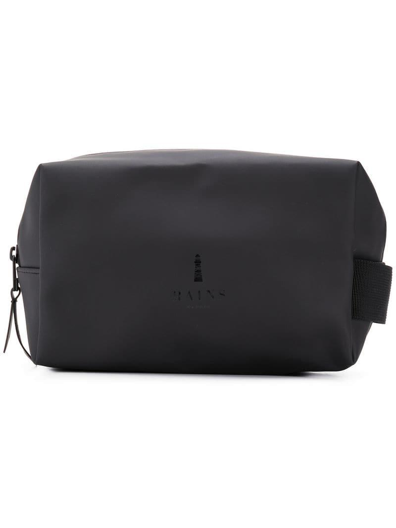 8f8d735ad708 Rains Zip Around Wash Bag in Black for Men - Save 20.454545454545453 ...