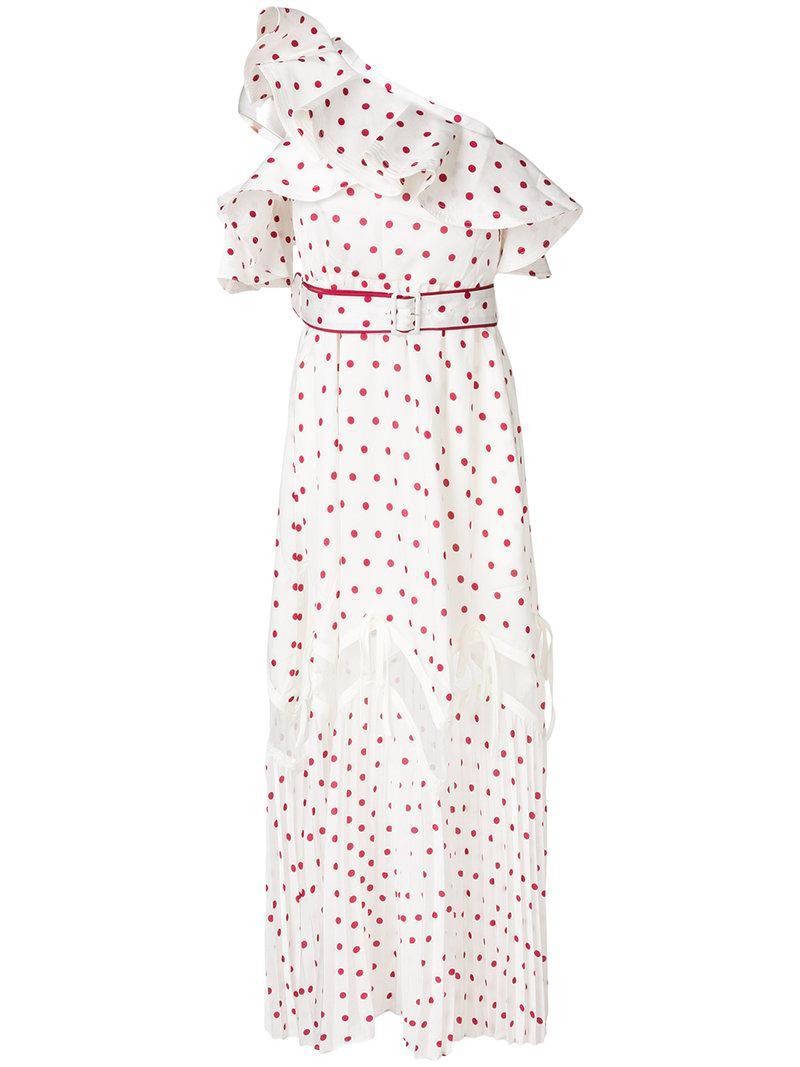 polka dot one shoulder dress - White Self Portrait CqVpN