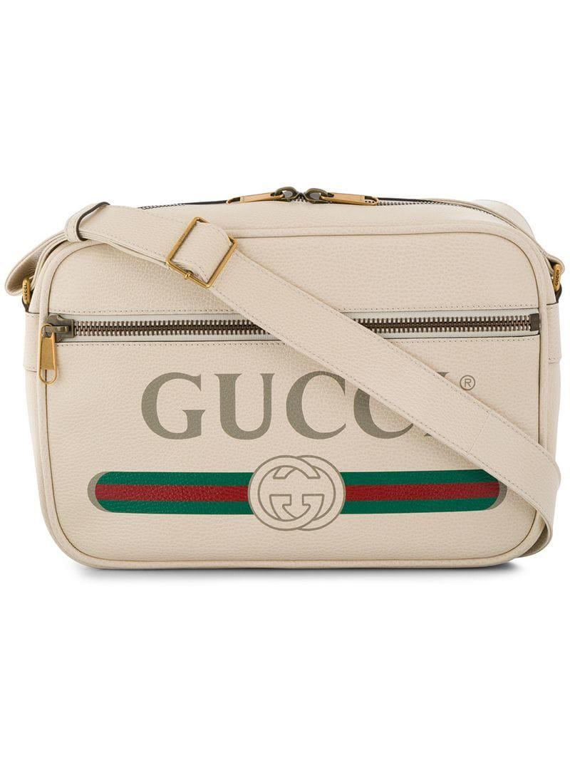 b348b4798f53 Lyst - Gucci Print Shoulder Bag in Natural for Men