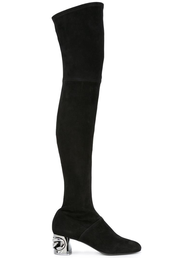 Black Length Boots Casadei Chain In Thigh Lyst Maxi ZO8Bnxwv