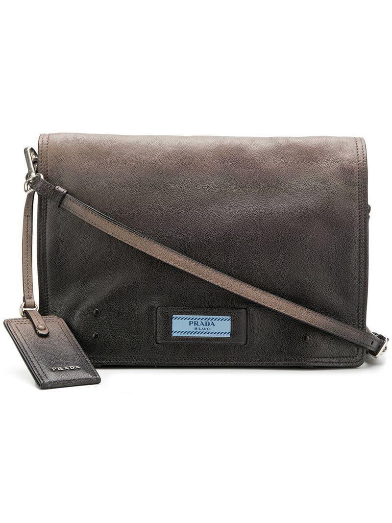 826c1228908d Prada Etiquette Shoulder Bag in Gray - Lyst