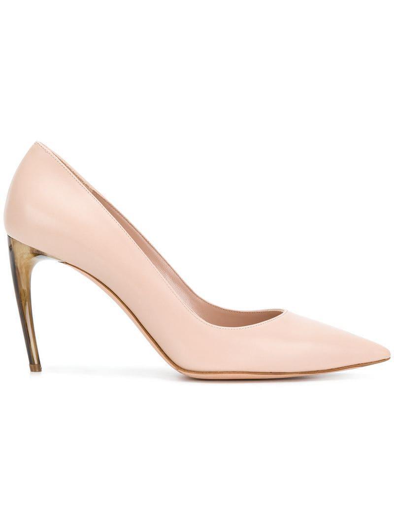 7cbc572672ca Lyst - Alexander Mcqueen Horn Heel Pumps in Pink